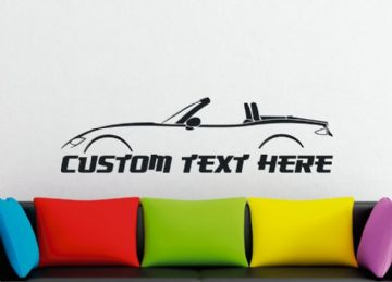 Large Custom car silhouette wall sticker - for Mazda MX5 / Miata ND , (Top down) | 4th gen  MK4